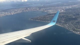 Flying - Landing Into Seattle-Tacoma International Airport Onboard Alaska Airlines 737-900