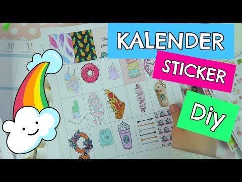 Kalender Sticker / Aufkleber selber machen DIY | Mavie Noelle TUTORIAL from YouTube · Duration:  9 minutes 52 seconds
