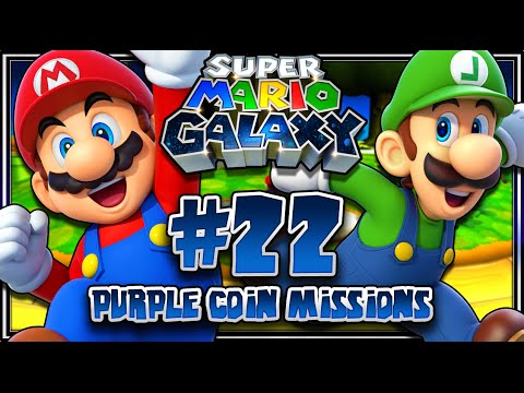 Super Mario Galaxy - Part 22 (1080p 60FPS 100%) Purple Coin Missions