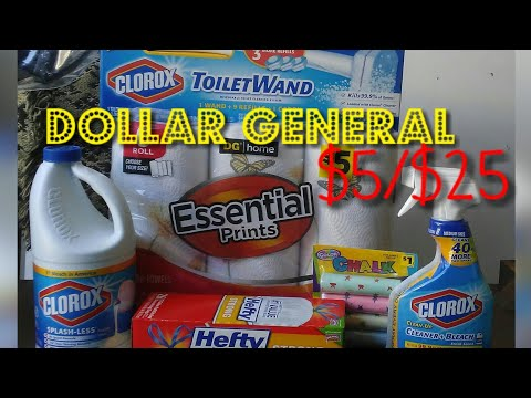 $5/$25 Dollar General Haul: Clorox & Household Products
