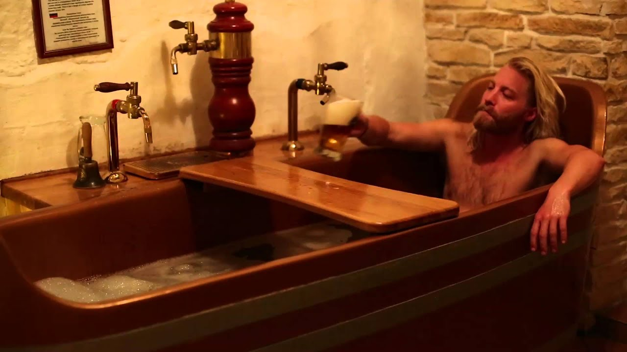Beer Spa In Prague Youtube