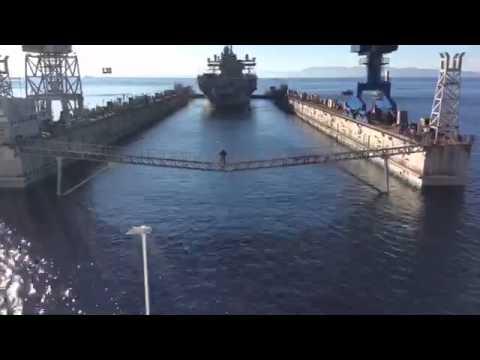 USS Mount Whitney Enters Dry-Dock: Jan. 19, 2015
