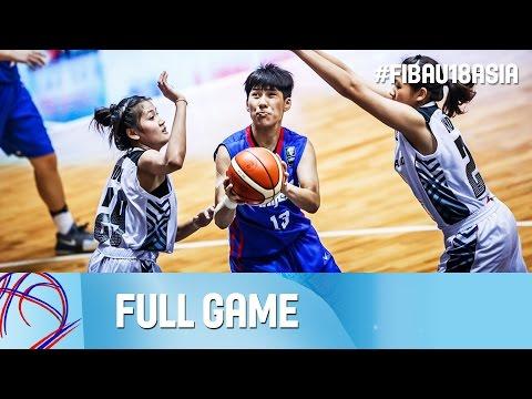 Thailand v Chinese Taipei - Full Game - FIBA Asia U18 Championship for Women 2016