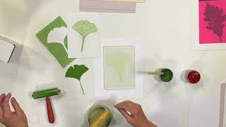Video Lesson Plan - Nature Printing with Speedball Gel Printing Plates & Akua Inks