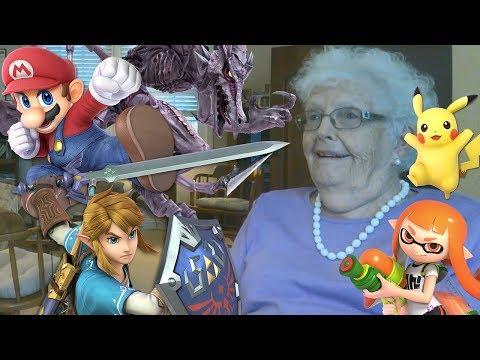 Showing My Grandma Smash Bros. Characters...