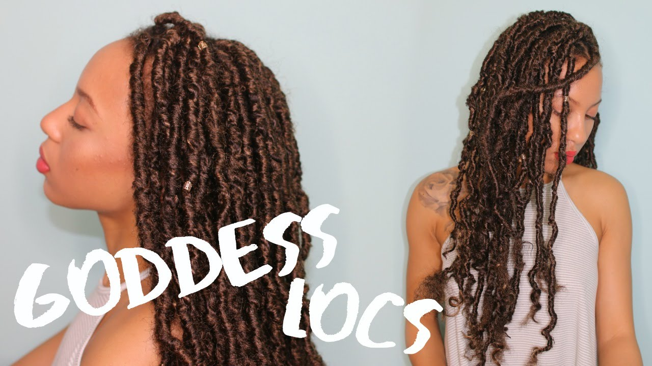 D I Y Realistic Carefree Goddess Locs Youtube