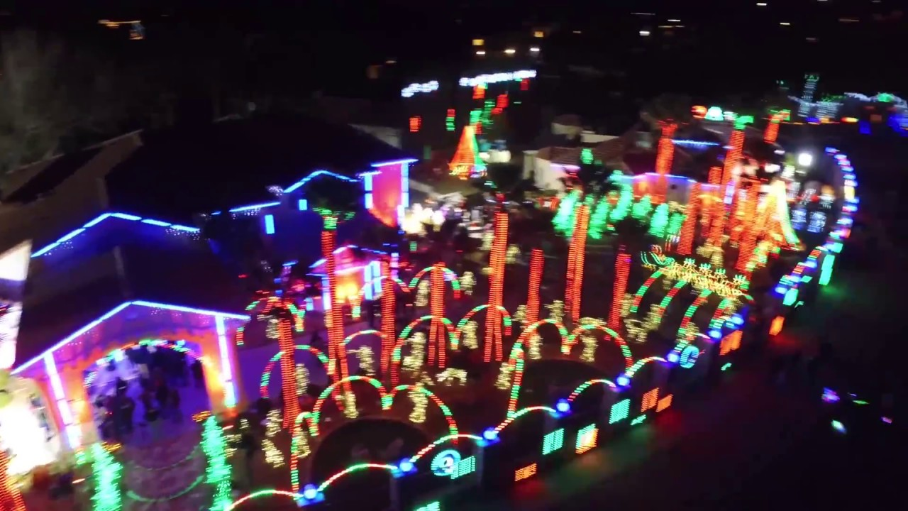 El Paso Christmas Lights.El Paso Christmas Lights Drone Video Fred Loya And San Jacinto