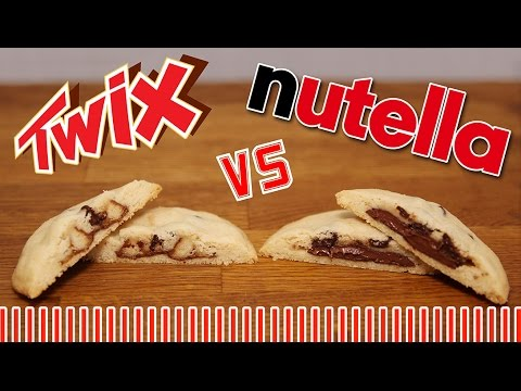 recette cookies au nutella et twix rapide et facile youtube. Black Bedroom Furniture Sets. Home Design Ideas