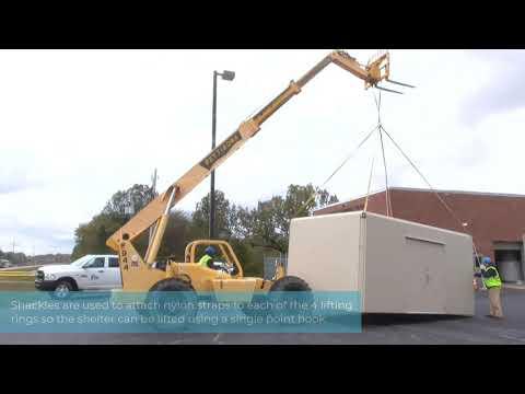 Time Lapse Installation of Fiberglass Shelter