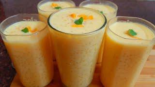 Mango sago drink summer drink