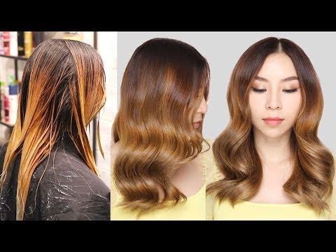 Balayage Hair Transformation on Dark Hair | TINA YONG