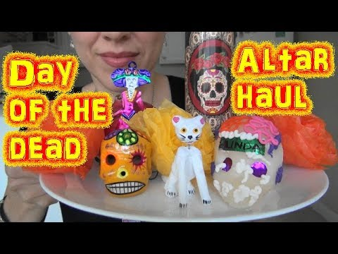 ASMR: Making a Day of the Dead Altar | Altar Haul | Día de los muertos