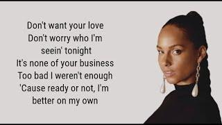 Alicia Keys - Wasted Energy Lyrics ft. Diamond Platinumz