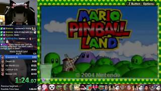 Mario Pinball Land - Any% Speedrun in 18:41