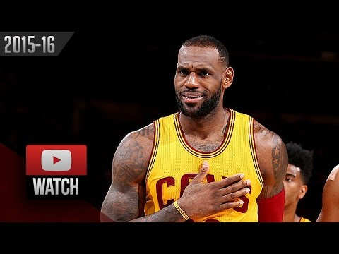 LeBron James Triple-Double Highlights vs Knicks (2016.03.26) - 27 Pts, 10 Ast, 11 Reb, SICK!