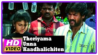Theriyama Unna Kadhalichitten Movie | Scenes | Vijay Vasanth and Resna complain about each other
