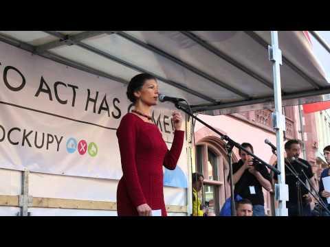 Video – 18 March 2015: Sahra Wagenknecht speaks at Blockupy