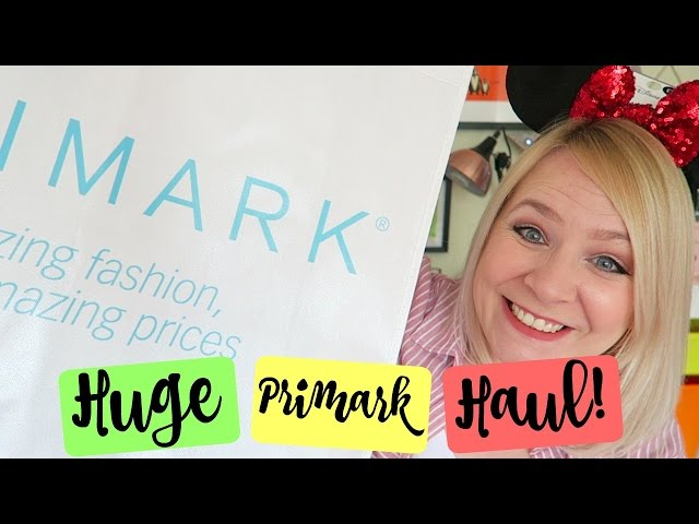 HUGE PRIMARK SPRING HAUL! Including Disney!