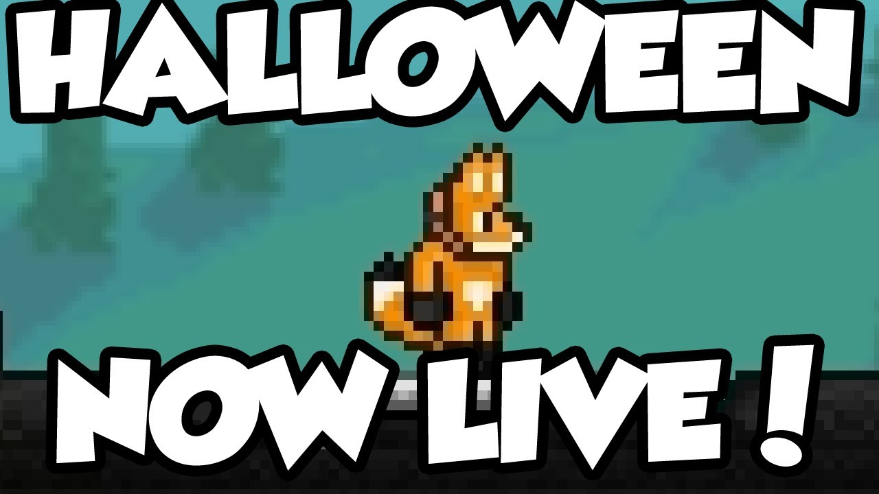 terraria 1.2.1 - halloween update is now live! get costumes, do