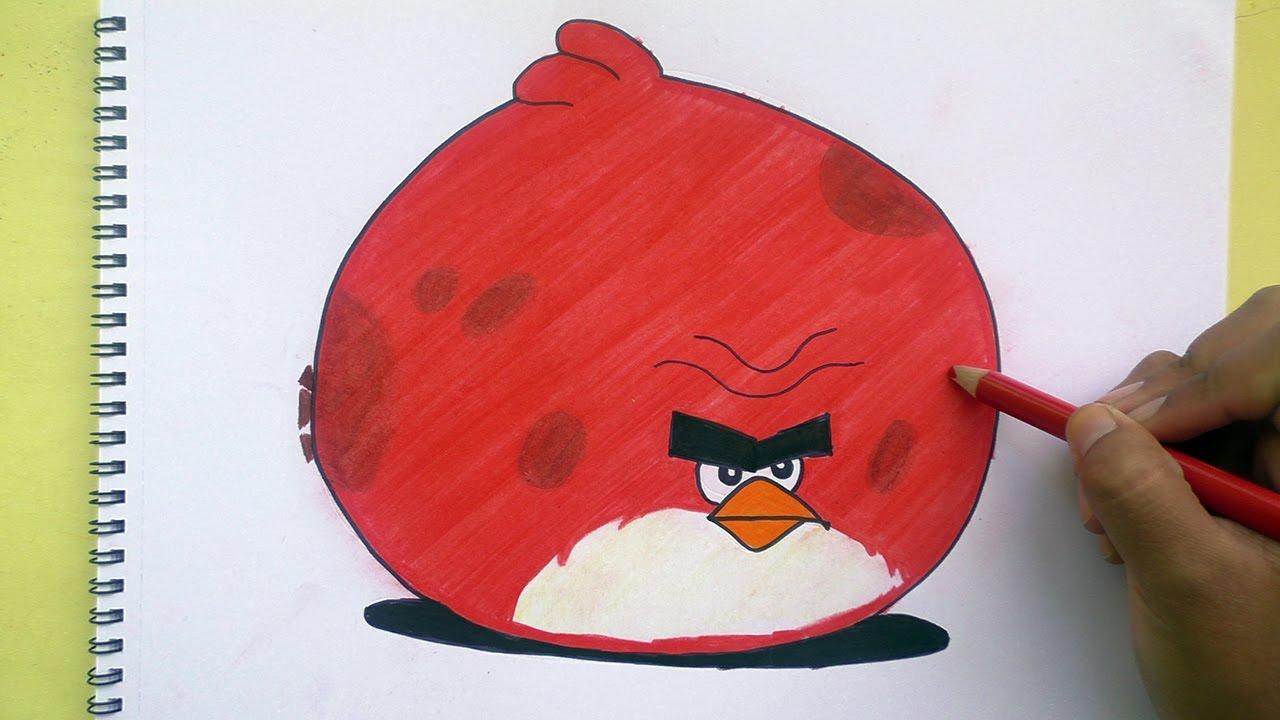 Como Dibujar A Angry Birds Colorear
