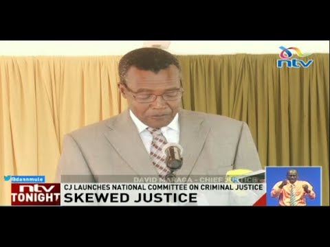 CJ Maraga admits Kenya's justice system is skewed against the poor