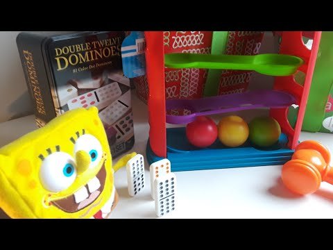 Spongebob Adventures/ Playing with Christmas toys!
