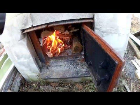 Homemade Outdoor Wood Heater