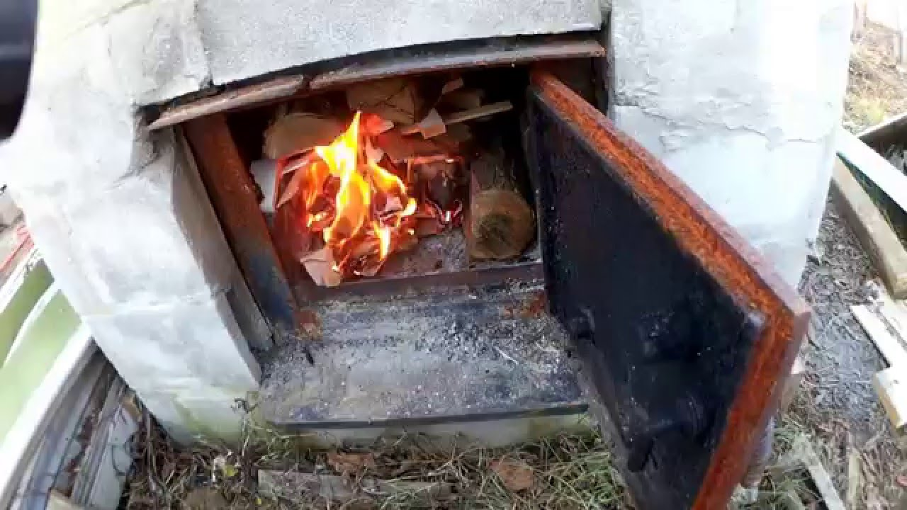 Homemade Outdoor Wood Heater Youtube