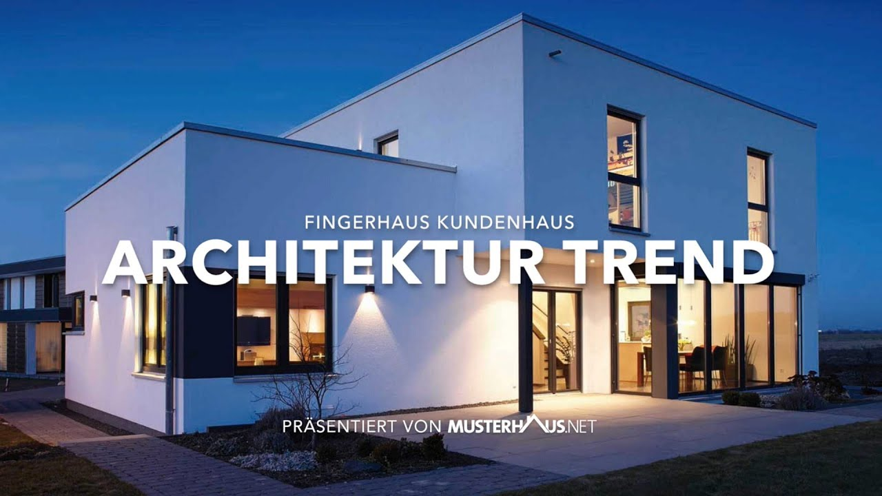 architektur trend haus von fingerhaus einfamilienhaus im bauhausstil youtube. Black Bedroom Furniture Sets. Home Design Ideas