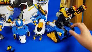 韓國 玩具 迷你 特工隊 變型 機器人 五合一 各式 戰隊 合體 3-2