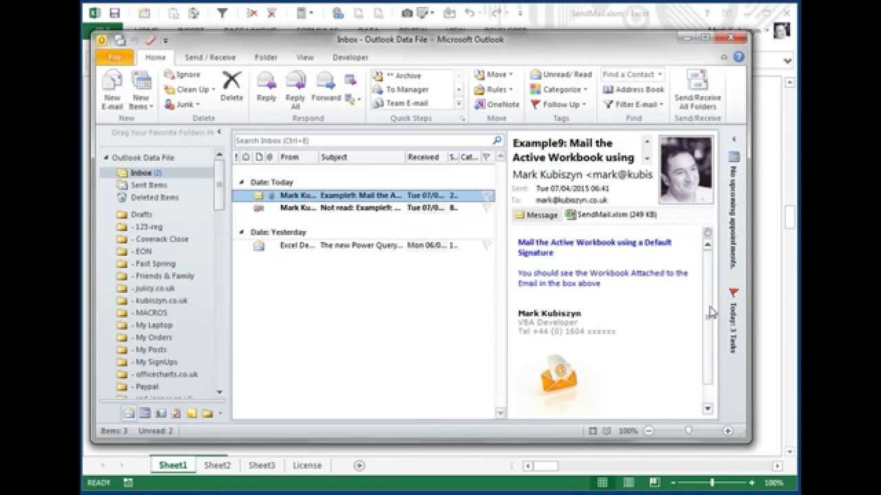 White Paper - Sending Images by Email using VBA & Outlook (Default ...