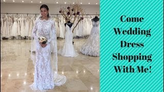 COME WEDDING DRESS SHOPPING WITH ME! Part 1 #BridetoBe Vlog