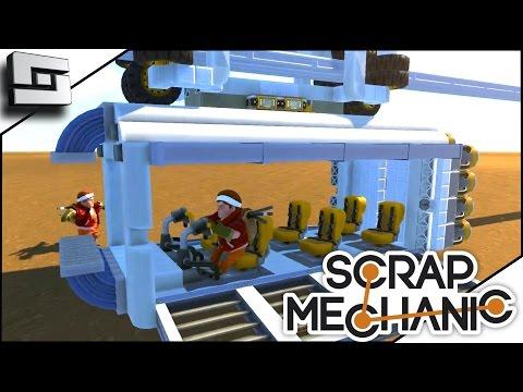 Scrap Mechanic - ROCKET POWERED MONORAIL!  (Gameplay)
