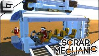 scrap mechanic rocket powered monorail gameplay