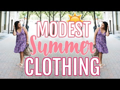 MODEST SUMMER CLOTHING HAUL 2018 | CURVY GIRL LOOK BOOK FOR DRESSING MODESTLY! | Page Danielle. http://bit.ly/2Xc4EMY