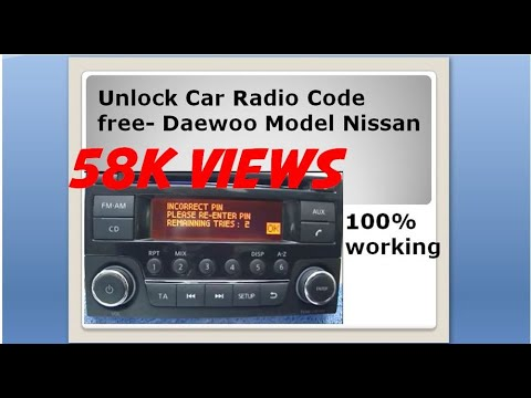 Radio code free unlock Daewoo model Nissan car radio - YouTube