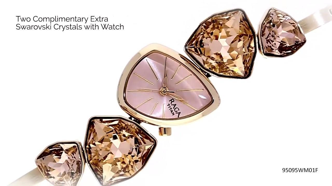Crystal By Raga I Am Pink Dial Analog Watch 95095wm01f