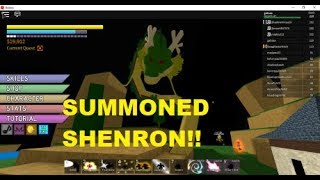 SUMMONING SHENRON!! | Roblox: Dragon Ball Z Final Stand |
