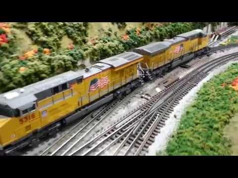MTH Premier Union Pacific AC6000 & ES44AC GEVO San Diego 3 Railers
