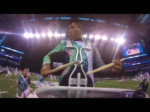 Up Close And Personal With Blue Knights' Tyler Doan During His Finals Drum Solo