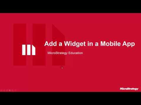 MicroStrategy Video Tutorial - Create a Mobile App: Add a Microchart Widget