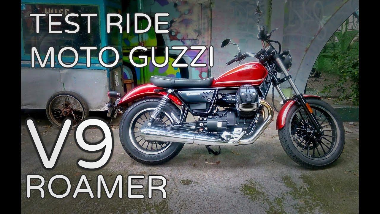 test ride moto guzzi v9 roamer | moto guzzi indonesia - youtube