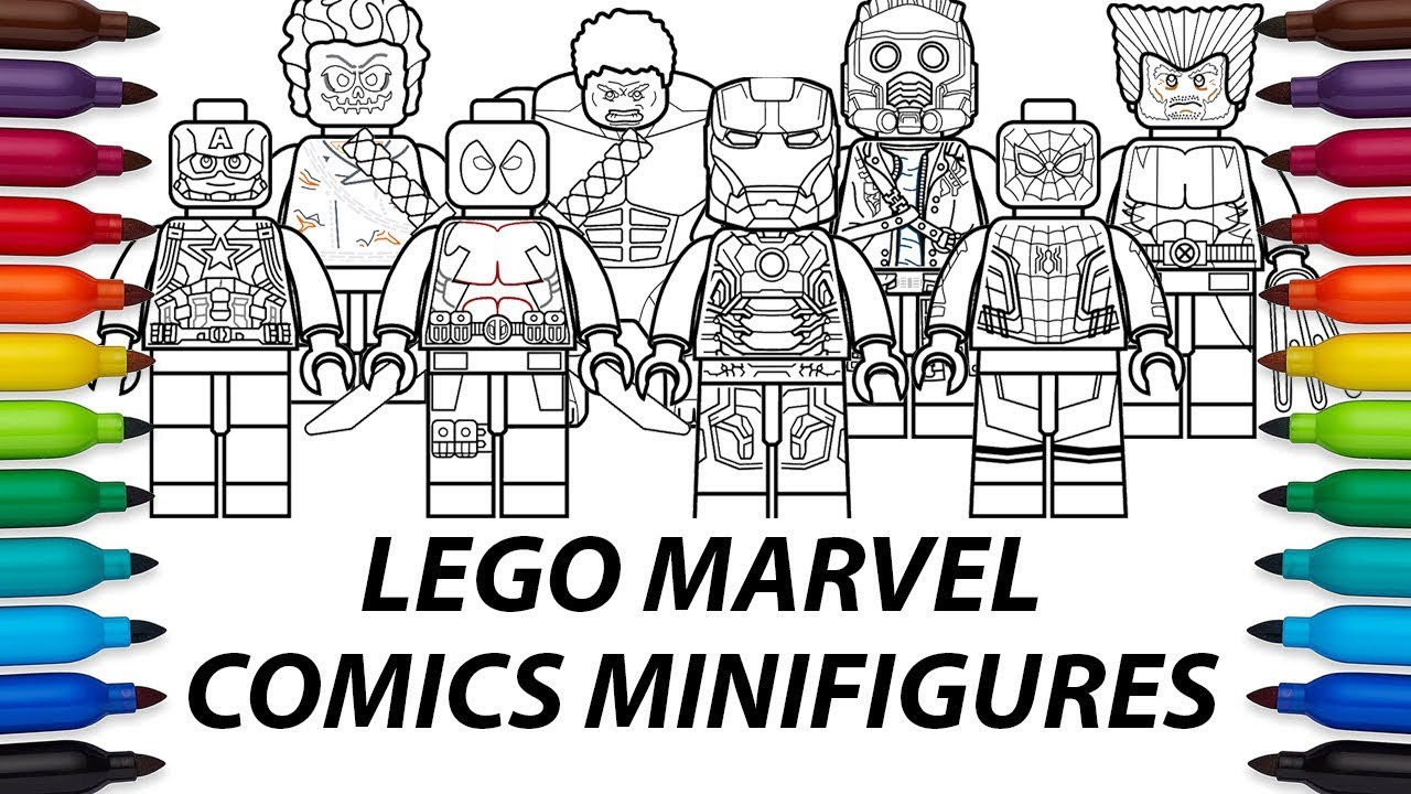 How To Draw Lego Marvel Comics Minifigures Compilation