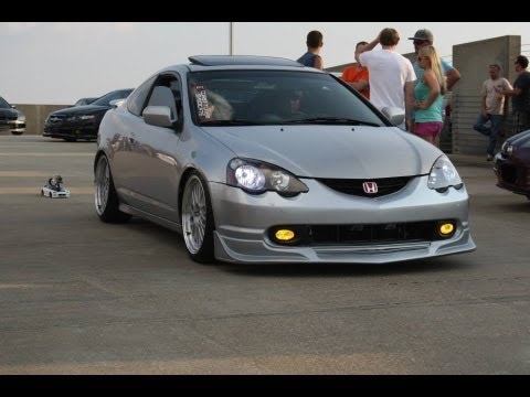 Acura RSX with Modified Subaru Header Part 2 - YouTube