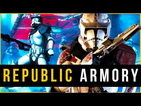 Complete ARMORY of the Grand Army of The Republic | (Canon & Legends) Clone Wars