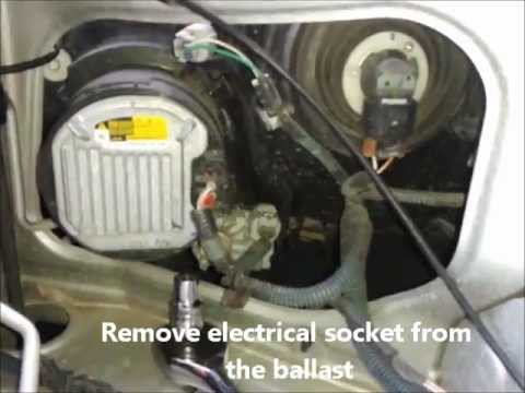 How To Remove Hid Bulb In 2012 Toyota Fortuner Youtube