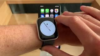 Comment créer un cadran Apple Watch 4 minimaliste avec un symbole type  au centre !