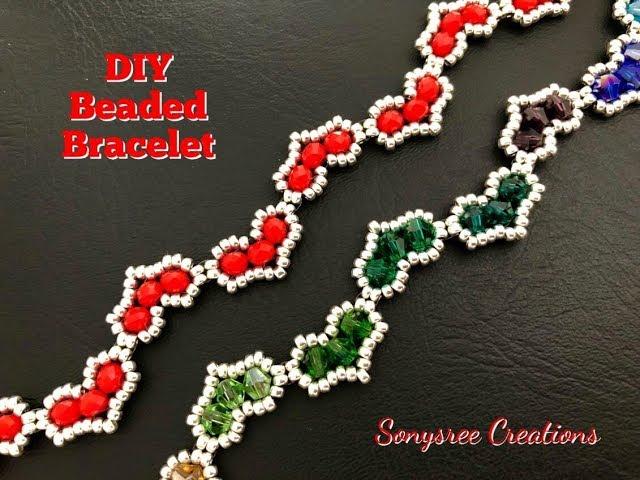 Hearty Beaded Bracelet || DIY Beaded Bracelet || How to make Beaded Bracelet