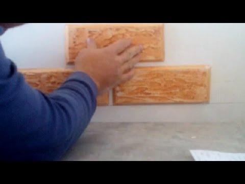 видео: как клеить декоративные плитки из гипсокартона