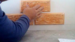 как клеить декоративные плитки из гипсокартона(Покажу как легко и просто клеить декоративные плитки на стену или любую другую поверхность.Это может сдела..., 2014-11-04T17:20:20.000Z)